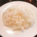 洋食屋クメキッチン - ご飯は柔らかめ