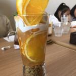 カフェ オレンジ - オレンジパフェ