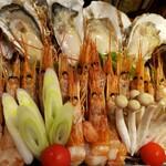 串遊海鮮 かいり - 相席しゃぶしゃぶ (牡蠣、大赤海老)