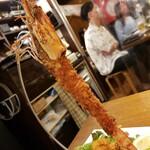 串遊海鮮 かいり - 特大エビフライの一本釣り