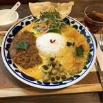 パニ カフェ - 料理写真:甘辛ポークキーマと季節の野菜\1200