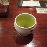 まるや本店 - 〆の緑茶