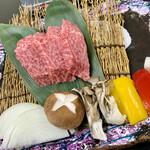 国民宿舎 鵜の岬 - 料理写真:常陸牛鉄板焼(180g)