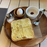 グッドネイバーズコーヒー リラクシング - このトーストが、想定外の美味しさを秘めてました∑(゚Д゚)