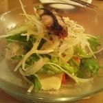 散歩亭 - 屋久島豆腐と鯖節のサラダ