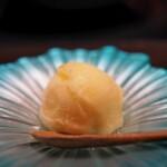水炊き ふく将 - 甘味シャーベット