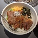 焼肉 せんりゅう - ステーキ丼定食(750円+税)