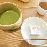13879835 - 季節の菓子と抹茶