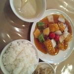 13880457 - 白身魚の甘酢炒めランチ