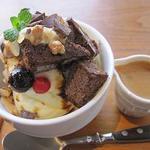 ナチュルカフェ - チョコブラウニーパフェ