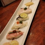 厳遊庭 - あぶり寿司盛り合わせ