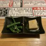 肉×魚×日本酒 照 - お通し 350円