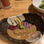 肉×魚×日本酒 照 - ごまぶり 590円
