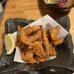肉×魚×日本酒 照 - 小エビの唐揚げ 390円