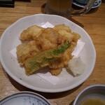 魚菜屋 - タラ白子天ぷら