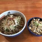 塩元帥 - ネギ醤油ラーメン970円とチャーマヨ丼320円