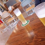 ローラーコースト - アメリカンな店内でランチビール