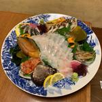 ひろしま旬彩 鶴乃や本店 - 厳選した魚介を料理長の確かな包丁さばきで極上のお造りに仕上げて頂きましたd(^_^o)