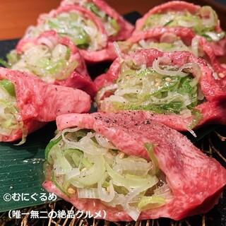 【肉】へのこだわり。名物!生タン塩など肉質とコスパを重視