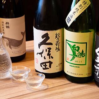 広島の地酒や焼酎など豊富に取り揃え!自慢の料理と好相性◎