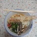 宮川製麺所 - うどん(小)、ちくわ天