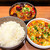 麻婆豆腐TOKYO - 料理写真:W麻婆豆腐定食(炎魔と酸辣麻婆を選択) 1,400円(うち200円は炎魔への変更料金)