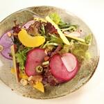 海鮮居酒屋ふじさわ - 鎌倉野菜のサラダ