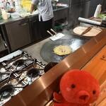 想夫恋 - 茹でた麺を鉄板へ