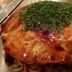 Hiroshimaokonomiyakiteppanyakiyuuchan - 生エビ5尾入りのお好み焼き