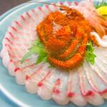 割烹の宿 美鈴 - ヤドカリ/シマアジ/イサキ 刺し