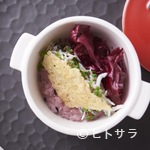 ジュー ドゥ マルシェ - 料理写真:黒米のリゾット しらすとグラナパダーノチーズ