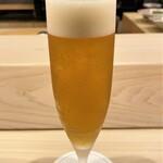 はらまさ - 生ビールを一杯だけ(^^♪