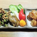 高木鮮魚店 - 小鉢三種盛