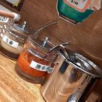 家系ラーメン 幸家 - 料理写真:卓上のアメニティ