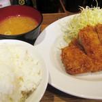 富士喜 - 特製厚切りロースとんかつの定食