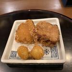 花小宿 - 角煮と餅銀杏のあられ揚げ