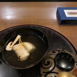 花小宿 - 汁物 甘鯛、松茸、、カブ、ゆずのお吸い物