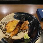 花小宿 - 鰻、柿の炭火焼