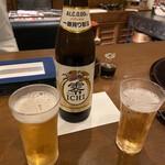 花小宿 - ノンアルコールビールで乾杯