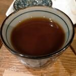 十割そば 東京バッソ - 蕎麦湯を入れたとこ