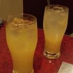 もつ彦 - オレンジ&パインジュース