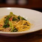 ミオバール - サンマと小松菜のオイルパスタ