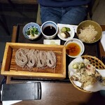 138888734 - 今月のおすすめ膳¥1200(税込価格¥1320)で内容は前回と同じ                       蕎麦は大盛り無料(へぎが1枚から2枚に)