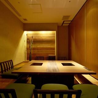 宴会や接待に!4~24名様用の個室。