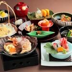 月日亭 - 海の幸朴葉焼 味噌クリーム仕立て会席〈10.1~11.23〉