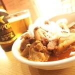 ふれあい立ち呑み酒場 ほていちゃん - 赤から牛味噌煮込み 420円也。初食でした。