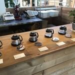 エマ コーヒー - 珈琲豆試飲コーナー