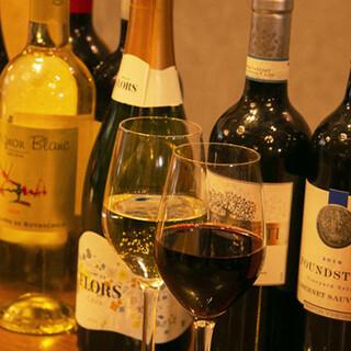 世界各国のワインをご用意!ドリンクのみの利用も大歓迎です。
