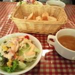 トラットリア・マツモト - サラダとスープ