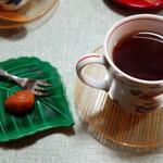 楽屋 - ほうじ茶と梅干